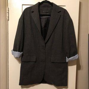 Zara pinstripe wool soft blazer small